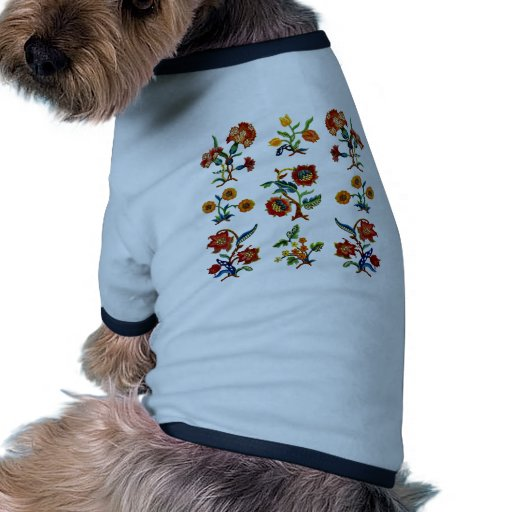Traditional Monmouth Jacobean Embroidery Dog T Shirt