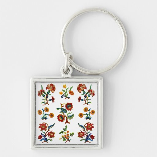 Traditional Monmouth Jacobean Embroidery Key Chains
