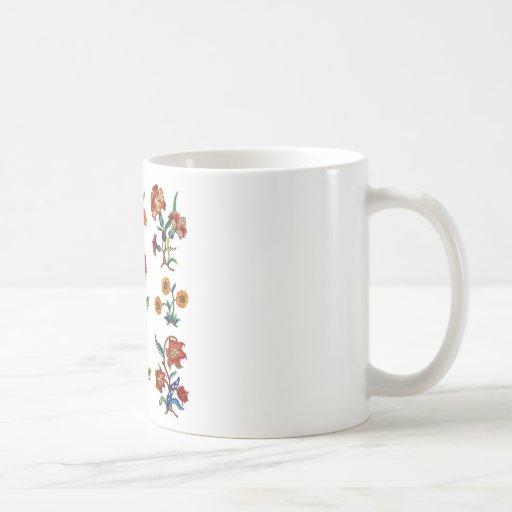 Traditional Monmouth Jacobean Embroidery Mug