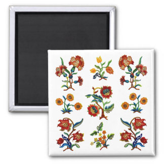 Traditional Monmouth Jacobean Embroidery Square Magnet