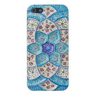 Traditional Moroccan turquoise Blue, white, salmon Case For The iPhone 5