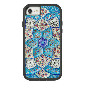 Traditional Moroccan turquoise Blue, white, salmon Case-Mate Tough Extreme iPhone 8/7 Case