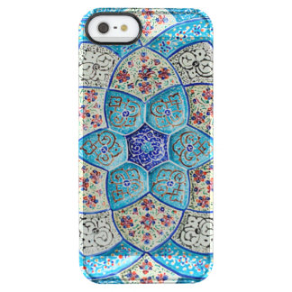 Traditional Moroccan turquoise Blue, white, salmon Clear iPhone SE/5/5s Case