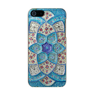 Traditional Moroccan turquoise Blue, white, salmon Incipio Feather® Shine iPhone 5 Case