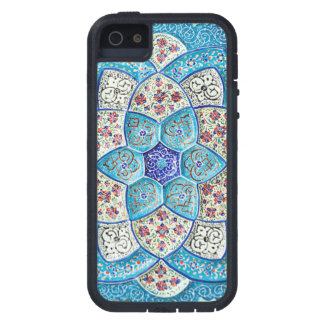 Traditional Moroccan turquoise Blue, white, salmon iPhone 5 Case