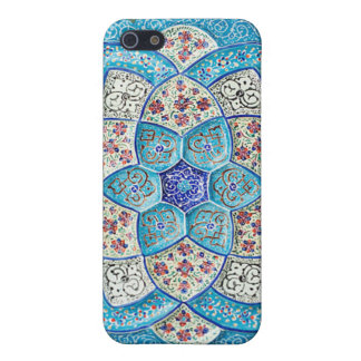Traditional Moroccan turquoise Blue, white, salmon iPhone 5 Cases