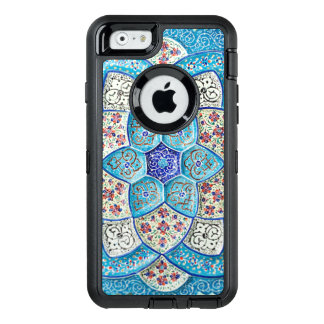 Traditional Moroccan turquoise Blue, white, salmon OtterBox Defender iPhone Case