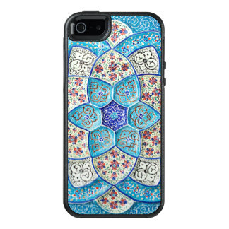 Traditional Moroccan turquoise Blue, white, salmon OtterBox iPhone 5/5s/SE Case