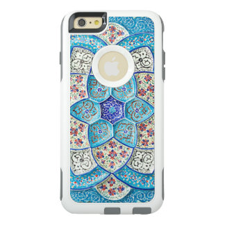 Traditional Moroccan turquoise Blue, white, salmon OtterBox iPhone 6/6s Plus Case
