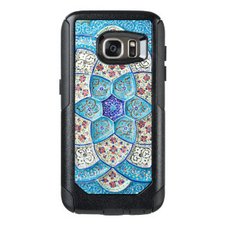 Traditional Moroccan turquoise Blue, white, salmon OtterBox Samsung Galaxy S7 Case