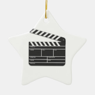 Traditional Movie Clapper-Board Christmas Ornament
