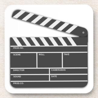 Traditional Movie Clapper-Board Beverage Coaster