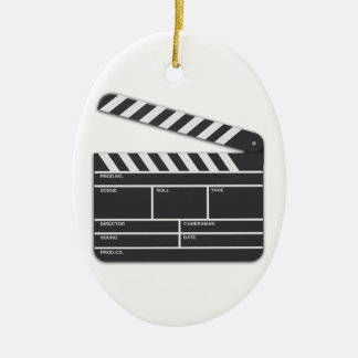Traditional Movie Clapper-Board Ornament