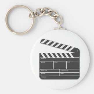 Traditional Movie Clapper-Board Keychain