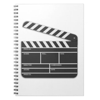Traditional Movie Clapper-Board Spiral Notebooks