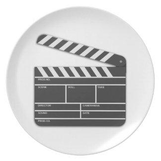 Traditional Movie Clapper-Board Plates