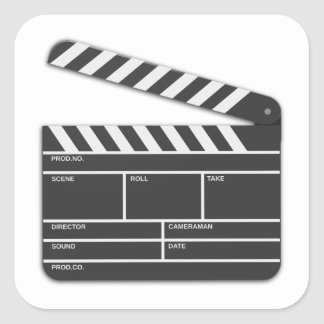 Traditional Movie Clapper-Board Sticker