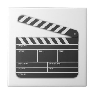 Traditional Movie Clapper-Board Tile