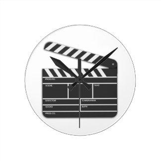Traditional Movie Clapper-Board Wallclocks