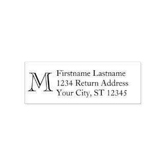 Traditional Name & Return Address - Monogram Self-inking Stamp