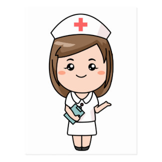Traditional Nurse Postcard
