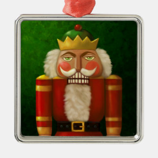 Traditional Nutcracker Metal Frame Ornament