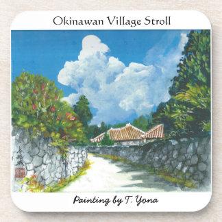 Traditional Okinawan Village Painting Coaster