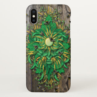 Traditional Pagan Green Man with Honey Bees iPhone X Case