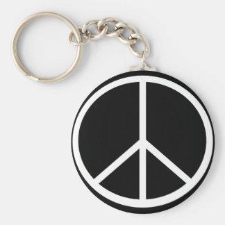 Traditional peace symbol key ring
