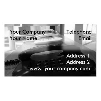 Traditional Phones Business Card Templates