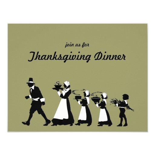 Traditional Pilgrims Thanksgiving Dinner Invite 11 Cm X 14 Cm Invitation Card