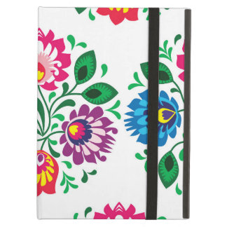 Traditional Polish floral folk embroidery pattern iPad Air Covers
