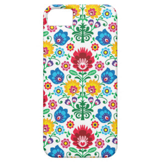 Traditional Polish floral folk embroidery pattern iPhone 5 Case