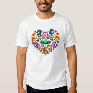 Traditional Polish floral folk embroidery pattern Shirt