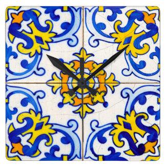 Traditional Portuguese Azulejo tile Clock