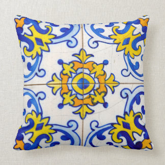 Traditional Portuguese Azulejo tile Cushion