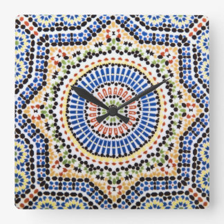 Traditional Portuguese Azulejo Tile Pattern Clocks