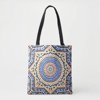 Traditional Portuguese Azulejo Tile Pattern Tote Bag