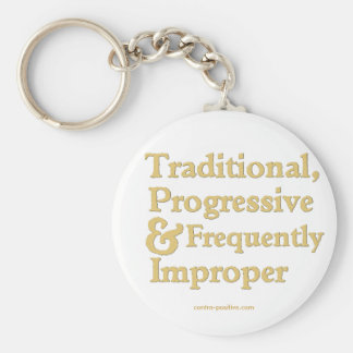 Traditional, Progressive ... Basic Round Button Key Ring