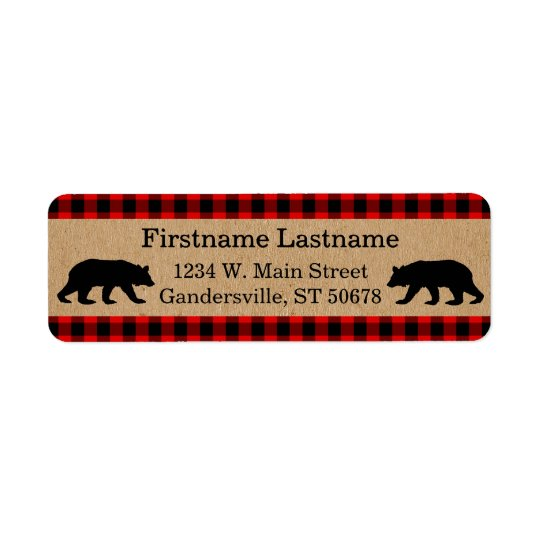 Traditional Red Black Buffalo Check Plaid Pattern