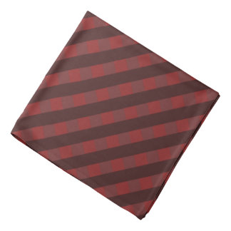 Traditional red chequered pattern, buffalo plaid bandana