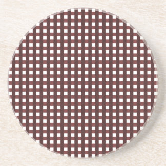 Traditional red chequered pattern, worker clothing coaster