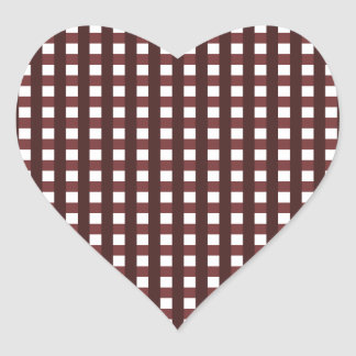 Traditional red chequered pattern, worker clothing heart sticker