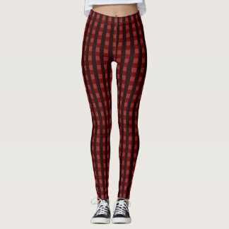 Traditional red chequered pattern, worker clothing leggings