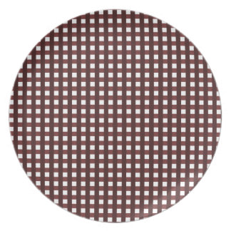 Traditional red chequered pattern, worker clothing plate