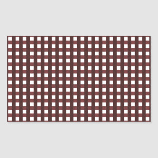 Traditional red chequered pattern, worker clothing rectangular sticker