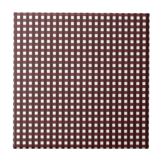Traditional red chequered pattern, worker clothing small square tile