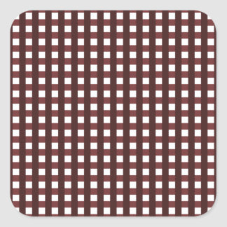 Traditional red chequered pattern, worker clothing square sticker