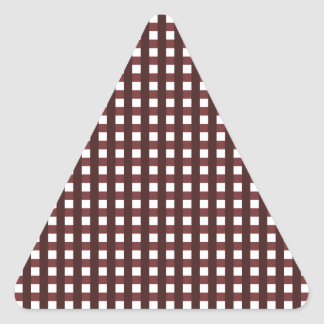 Traditional red chequered pattern, worker clothing triangle sticker