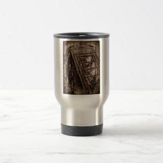 Traditional red telephone. coffee mug